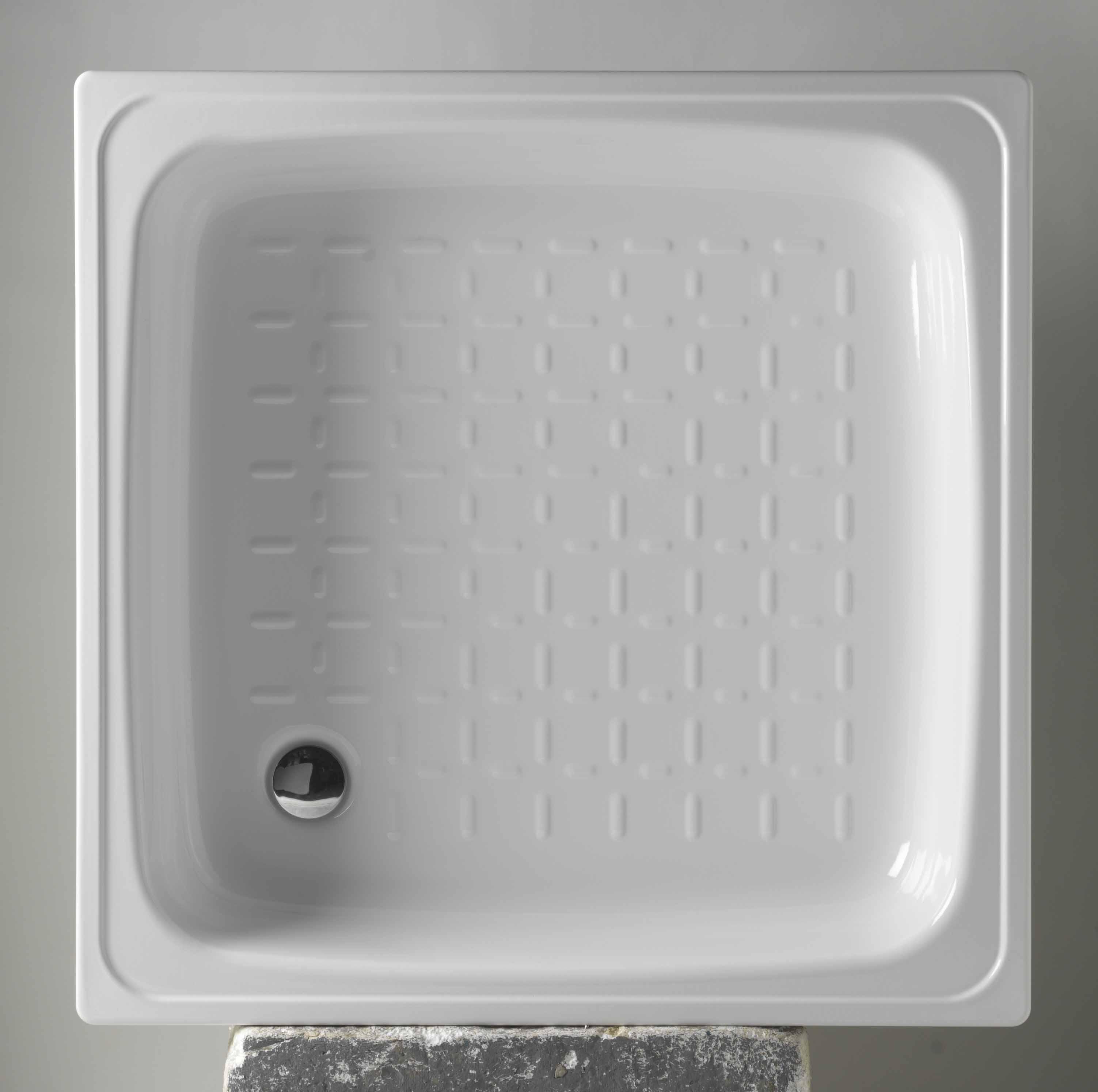 Čtvercová plechová vanička KITEN I, II - 800 x 800 x 160 mm