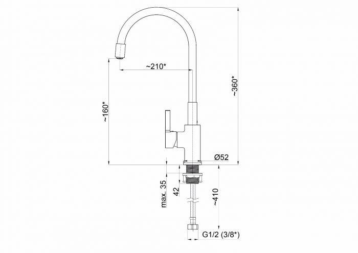 Náhradní výtokové ramínko pro FLEXY-33 - Černá